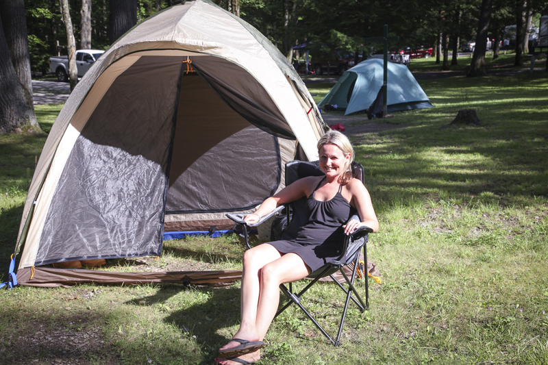 L.L. Beanu0027s King Pine Dome Tentu003dbest tent ever!  sc 1 st  Bringing Down the White Picket Fence & Road Trip USA-Cooperu0027s Rock and New River Gorge West Virginia ...